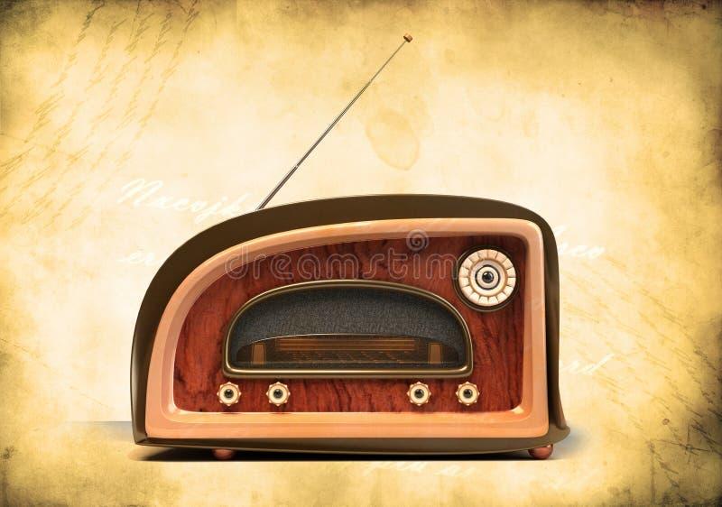 tła grunge radia retro projektujący ilustracji