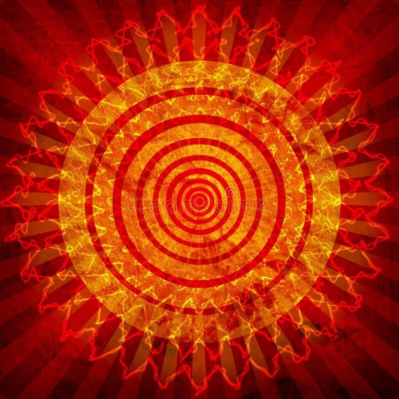 tła grunge słońce ilustracja wektor