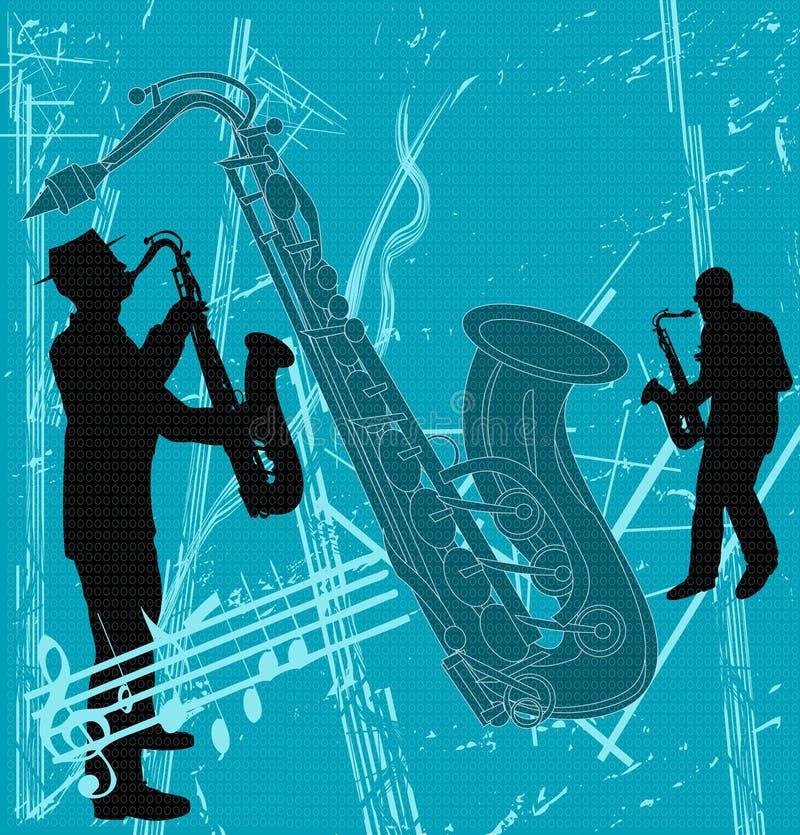 tła grunge saksofon ilustracji