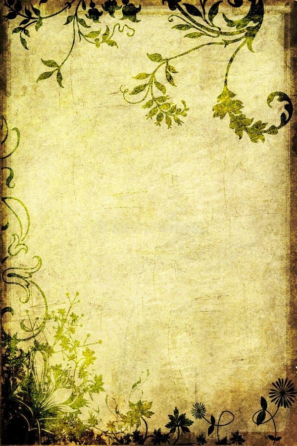 tła grungy kwiecisty ilustracja wektor