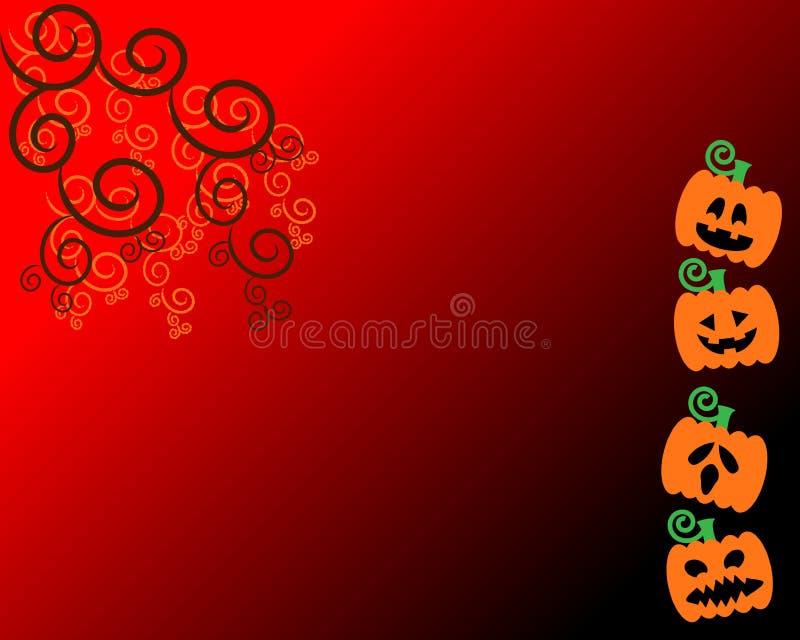 tła Halloween bania royalty ilustracja