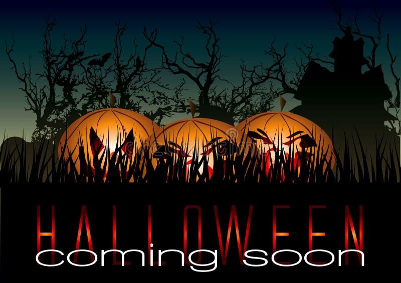 tła Halloween banie straszne ilustracja wektor