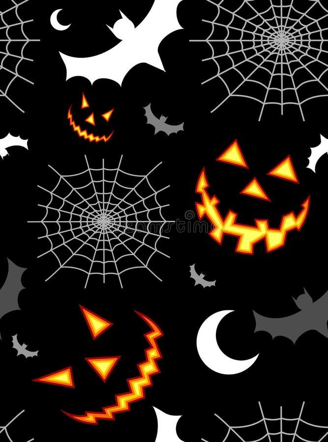 tła Halloween deseniowy terror royalty ilustracja