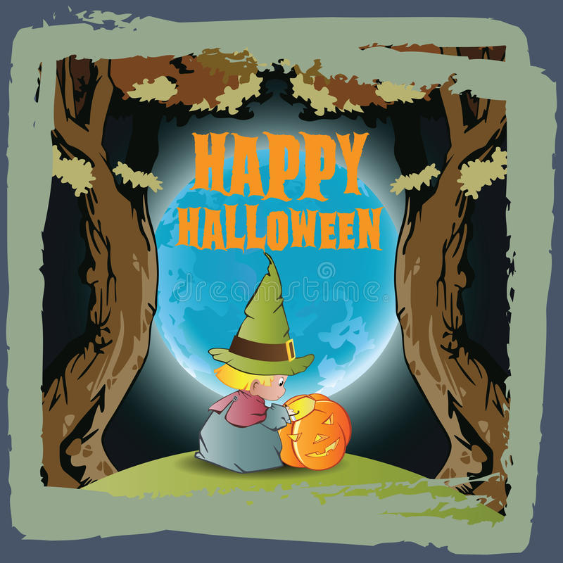 tła Halloween wektor royalty ilustracja