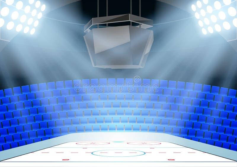 Tła hokej na lodzie arena ilustracji