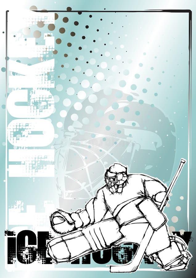 tła hokeja lodu ołówka plakat royalty ilustracja