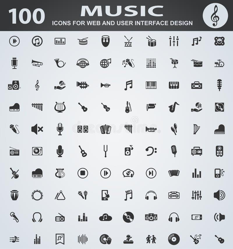 tła ikony odosobniony muzyczny ustalony biel royalty ilustracja