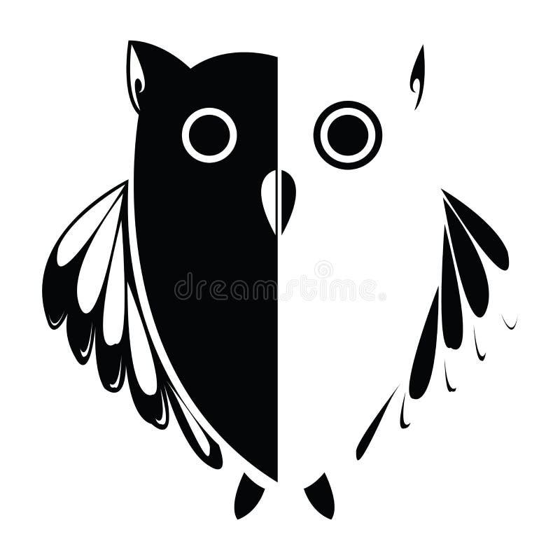 tła ilustracyjna sowa stylizujący wektor ilustracja wektor