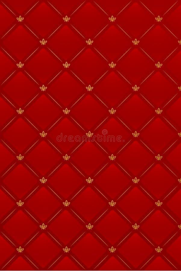 tła ilustracyjny rzemienny czerwieni wektor royalty ilustracja