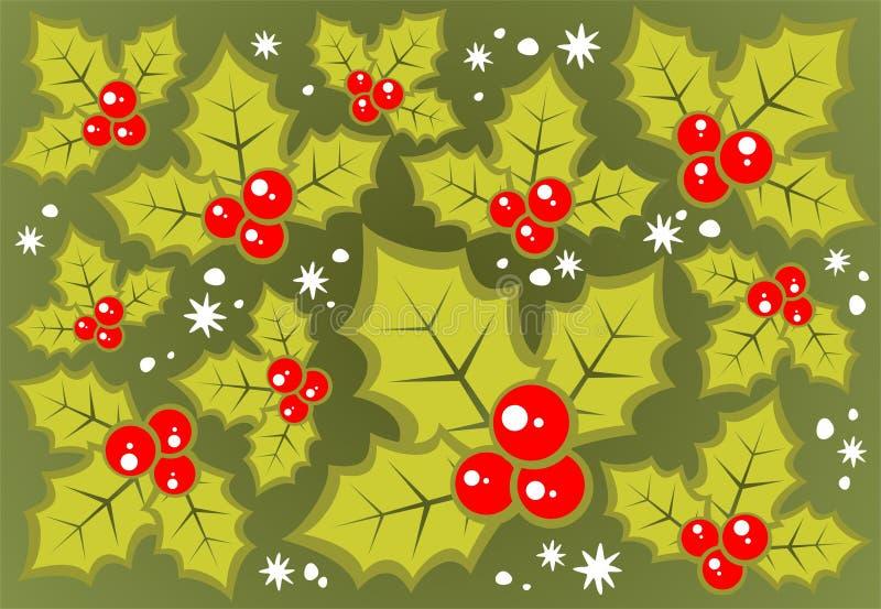 tła jagody holly ilustracji