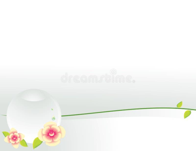 tła jasny kwiatów sfery biel royalty ilustracja