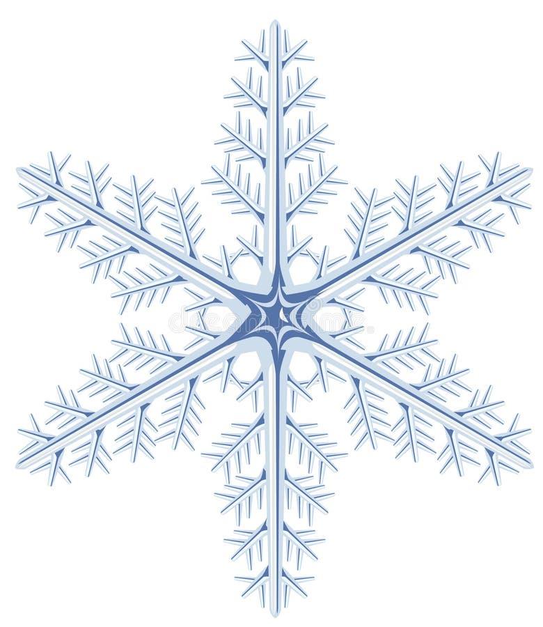 tła jeden płatka śniegu biel ilustracja wektor