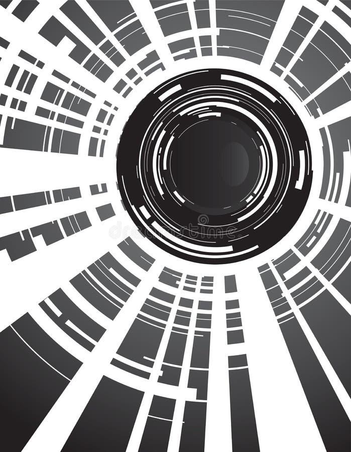 tła kamery obiektyw ilustracja wektor