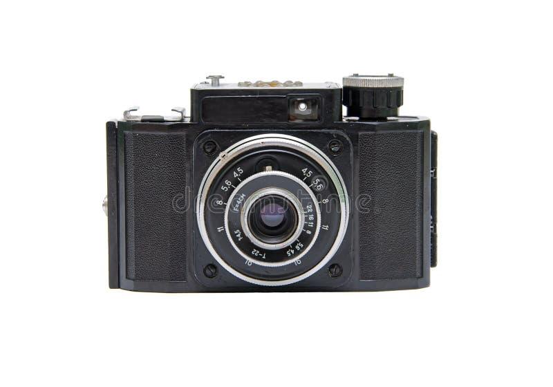 tła kamery odosobniony stary biel fotografia stock
