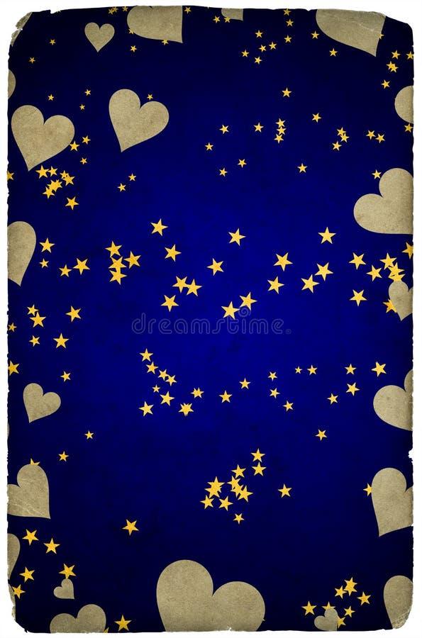 tła karciane powitań serc gwiazdy zdjęcia stock