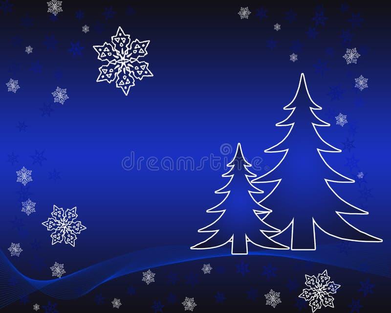 tła karciany bożych narodzeń nowy rok ilustracji