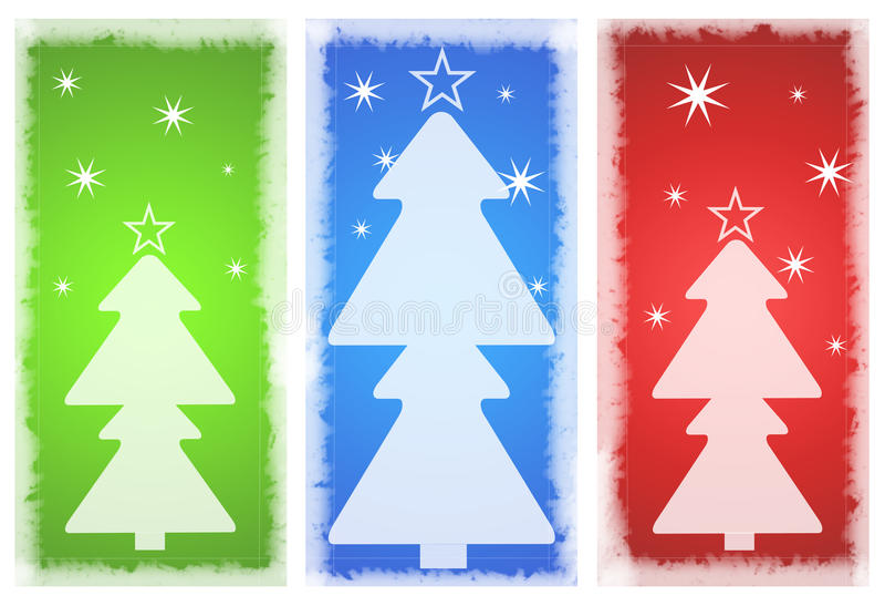 tła karciany bożych narodzeń nowy rok royalty ilustracja