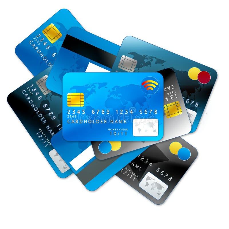 tła kart kredyta biel royalty ilustracja
