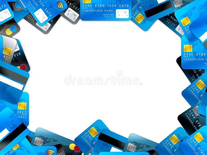 tła kart kredyta biel ilustracji