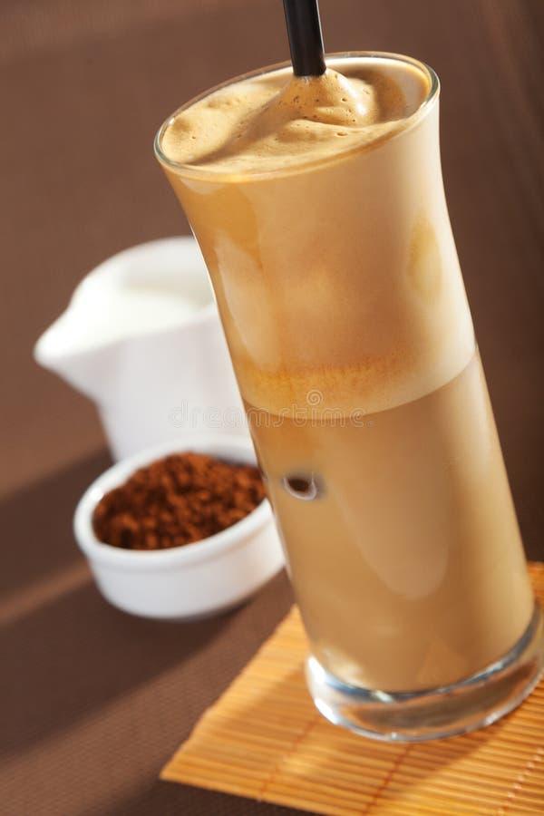 tła kawowego frappe odosobniony biel obrazy stock