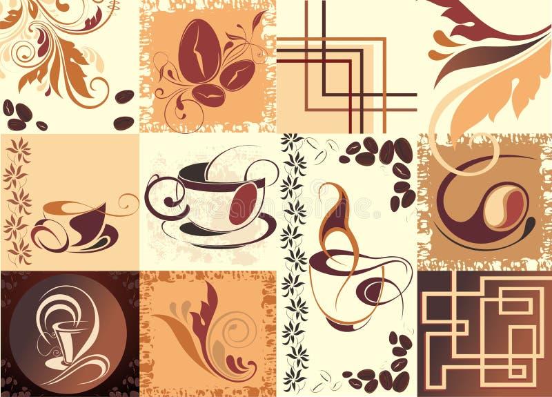 tła kawowy herbaty wektor ilustracji