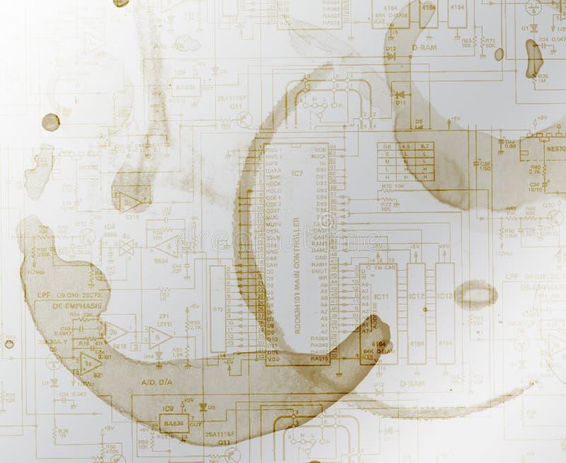 tła kawowy schematyczny pobrudzony royalty ilustracja