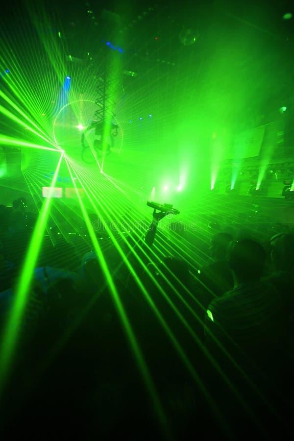 tła klubu zieleni noc przyjęcie zdjęcia stock