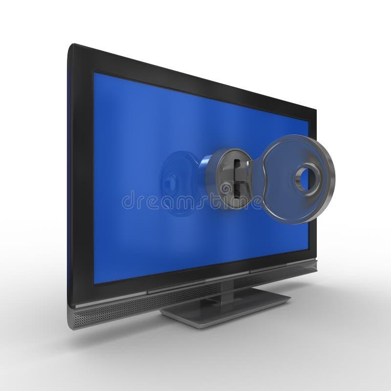 tła kluczowy tv biel ilustracji
