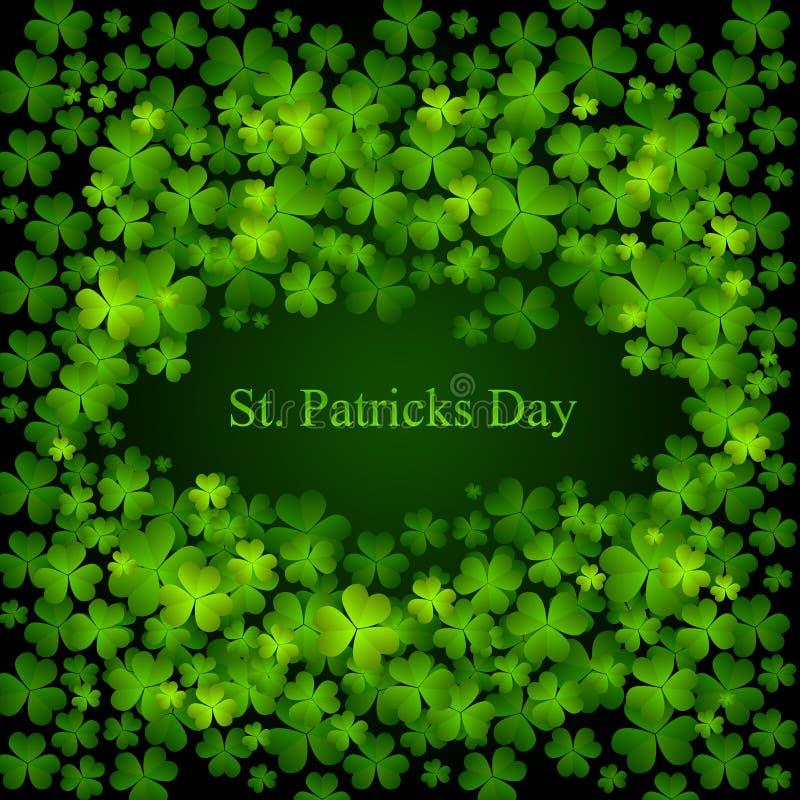tła kolorów dzień zieleni Patrick s st ilustracji