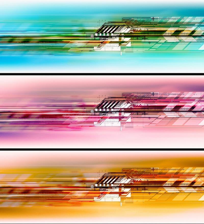 tła kolorowa cześć setu technika royalty ilustracja