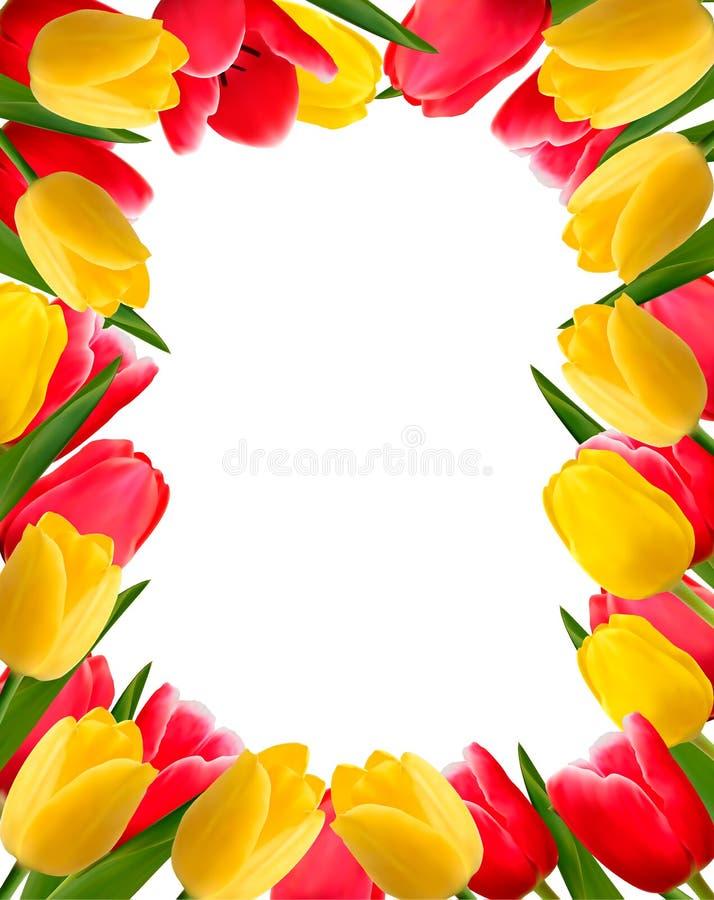 tła kolorowa kwiatu wiosna ilustracji