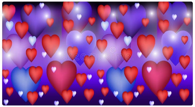 tła kolorowy serc wektor ilustracja wektor