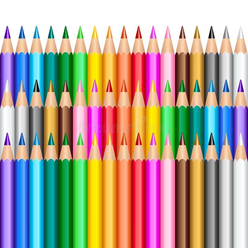 tła koloru ołówki ilustracji