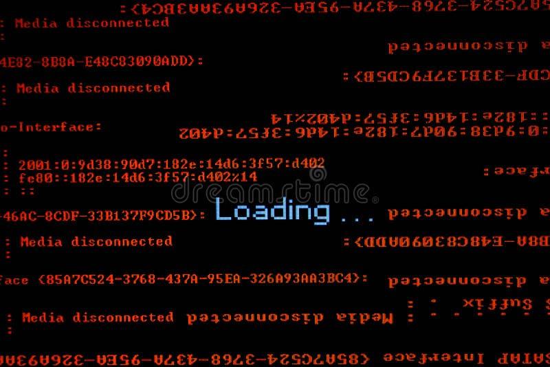tła komputerowego pokazu odizolowywający monitor nad biel zdjęcia stock