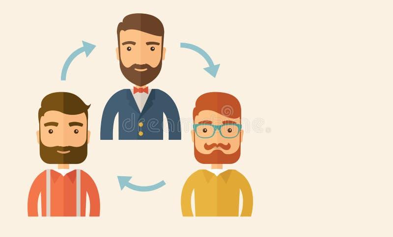 tła komunikaci biznesowej konceptualnej ilustraci odosobniony biel ilustracja wektor