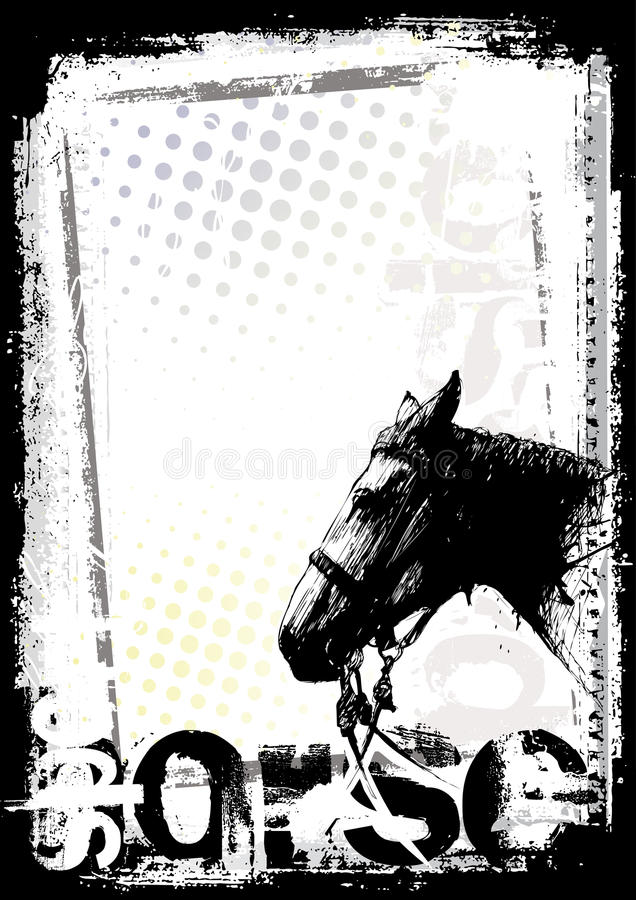 tła konia plakat ilustracja wektor