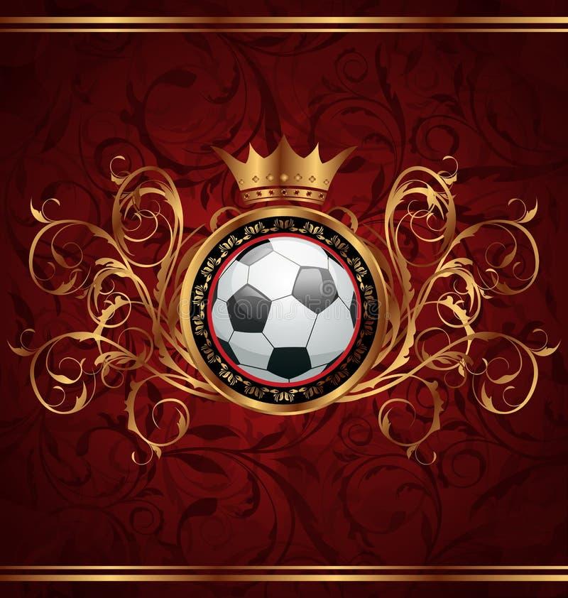 tła korony futbolu złoto royalty ilustracja