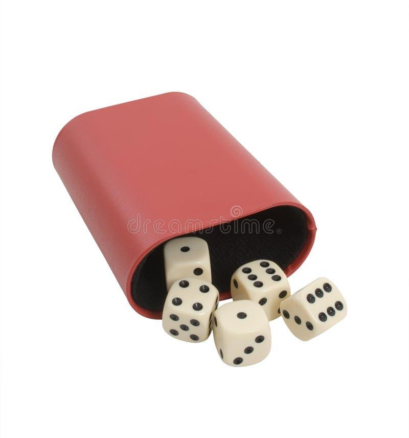 tła kostka do gry hazard nad biel obraz royalty free