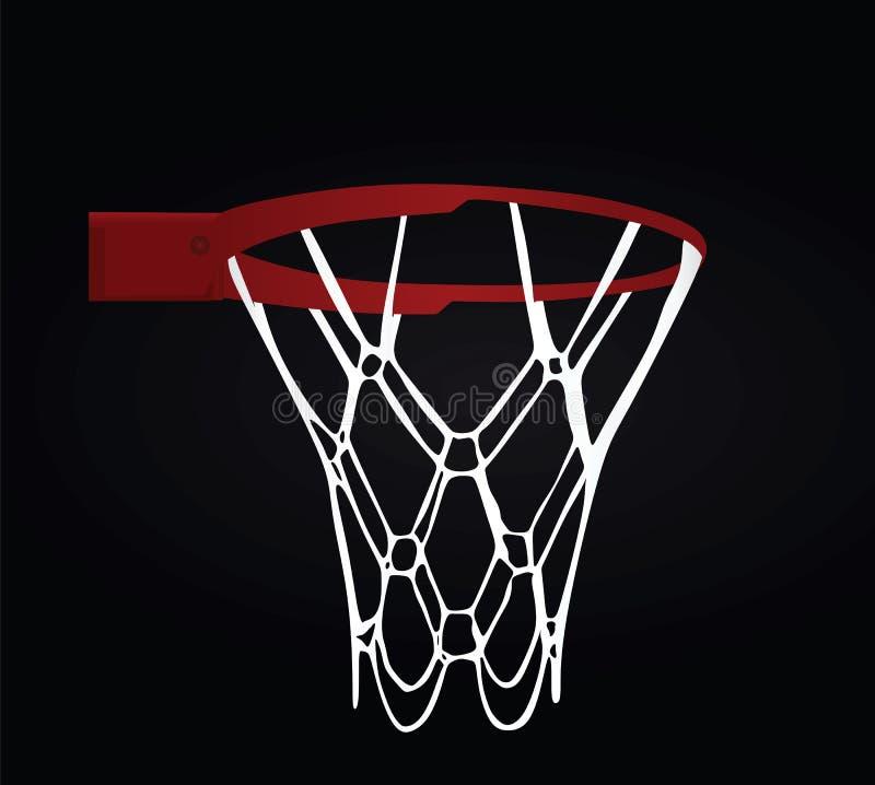 tła koszykowy koszykówki czerń ilustracji