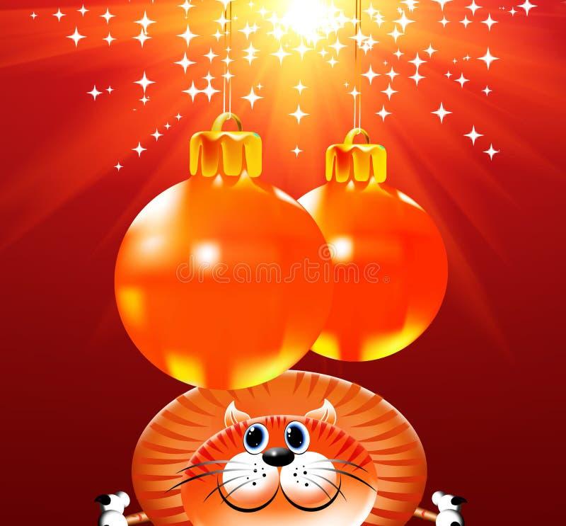 tła kota boże narodzenia royalty ilustracja