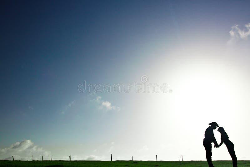 tła kowboja dziewczyna zdjęcia stock