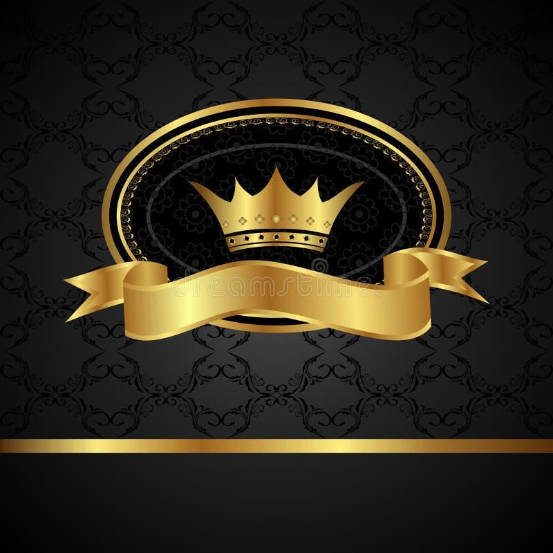 tła królewski ramowy złoty ilustracji