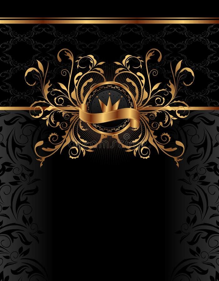 tła królewski ramowy złoty ilustracja wektor