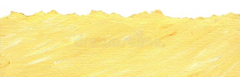 tła krawędzi papier drzejący kolor żółty royalty ilustracja