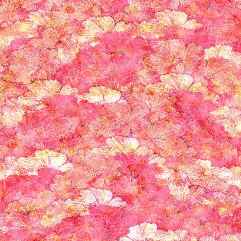 tła kredy kwiatu puszyste grunge menchie ilustracja wektor