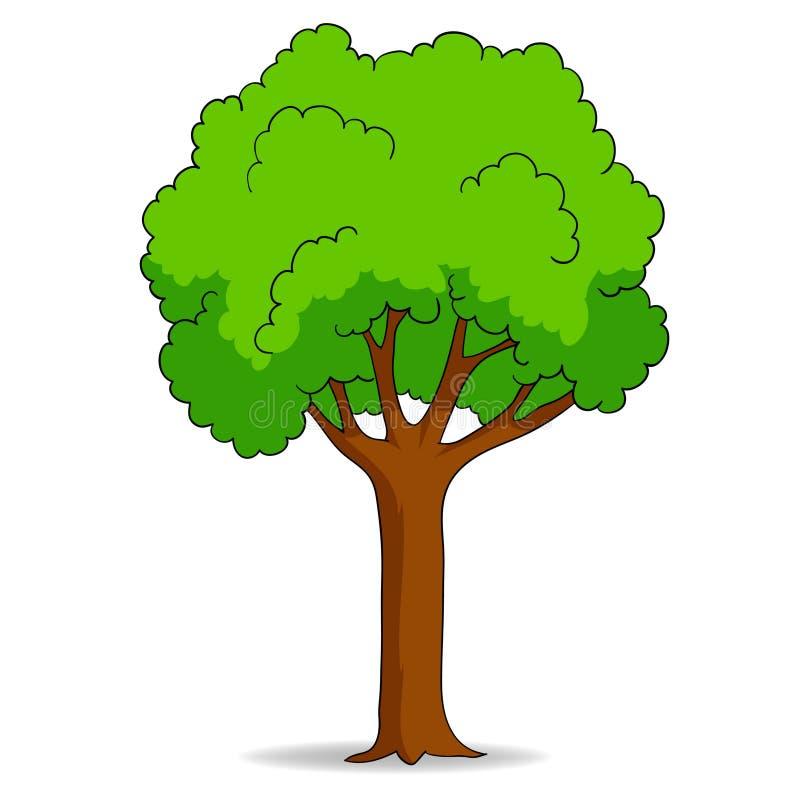 tła kreskówki odosobniony drzewny biel royalty ilustracja