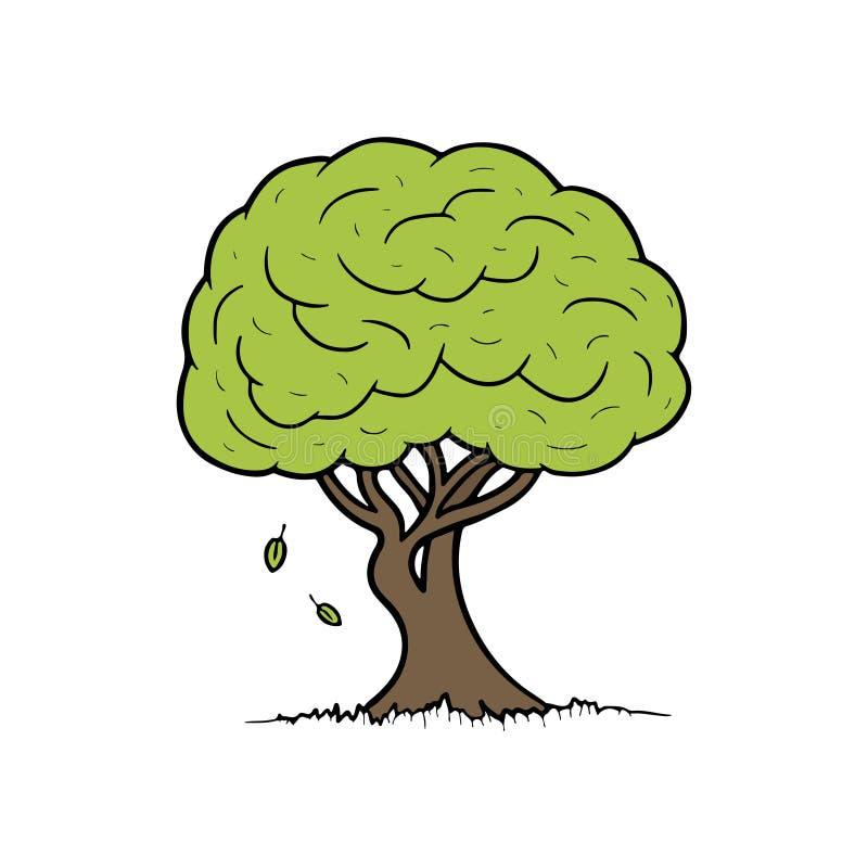 tła kreskówki odosobniony drzewny biel również zwrócić corel ilustracji wektora ilustracja wektor