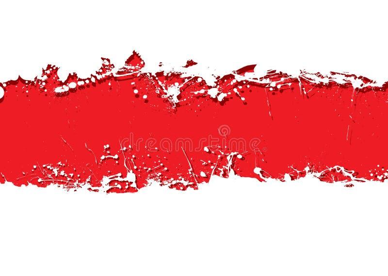 tła krwionośny grunge pasek ilustracja wektor
