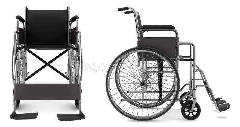 tła krzesła nieważny odosobniony biel royalty ilustracja