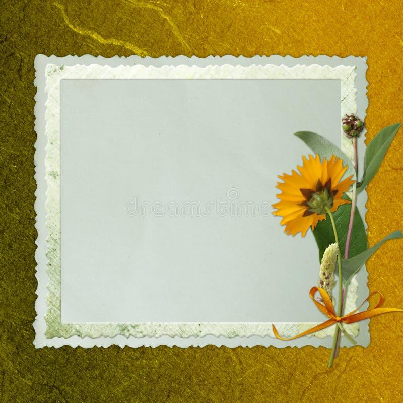 tła kwiatów rama stara ilustracja wektor